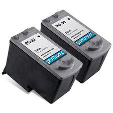 2 Pack Canon PG-30 Ink Cartridge Black - PIXMA iP1800 iP2600 MP140 MP190 Printer