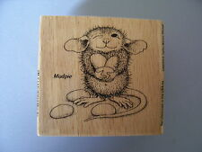 HOUSE MOUSE RUBBER STAMPS JELLY BEAN THIEF NEW wood STAMP