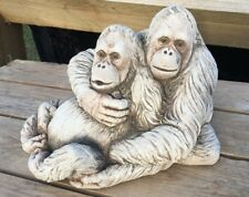 Orangutan Couple - Garden Ornament - Hand Cast