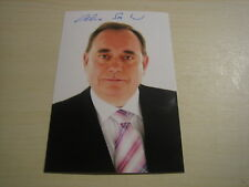 Rt Hon Alex Salmond MP (First Minster of Scotland) signed RARE **FREE POST**