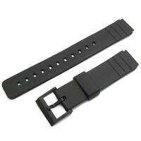 Watch Band Strap fits Casio AQ42 LDP800 MD712 MQ15w MQ24 MQ77 16mm Resin 260F10