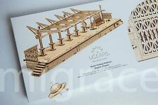 Ugears Model mechanical wooden 3D puzzle - Railway Platform Station