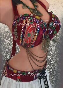 Fire belly dance belt