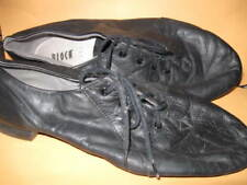 preowned Split Sole Black DANCE SHOES size 11 1/2 soft leather dancing