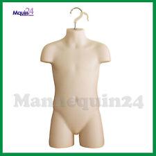 Child Mannequin Flesh Hard Plastic Kids Hanging Torso Dress Form