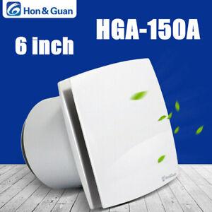 Hon&Guan 6'' Exhaust Fan Home Ventilator For Bathroom Kitchen Wall Mount 118CFM