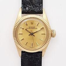 Rolex LADY Presidente OYSTER PERPETUAL-RIF 6719 18ct ORO-inizio anni 80er