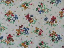 Vintage Wamsutta Juvenile Nursery Animals Print Light Cotton Blend Fabric BTY