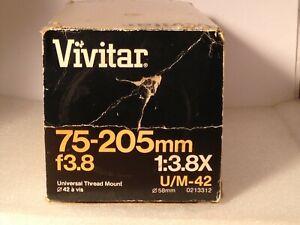 Vivitar 75-205mm f3.8 U/M-42 Close Focusing Lens