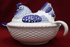 METLOX Poppytrail china PROVINCIAL BLUE pattern TUREEN with LID and LADLE