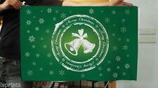 Pancartas y guirnaldas de fiesta color principal verde de Navidad