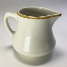 "HOMER LAUGHLIN Best China Creamer 3"" Mid Century Styleline Gold Cream Mustard"