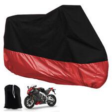 Telo Copertura per Moto Scooter 295x110x140cm XXXL UV Protezione Nero e Rosso