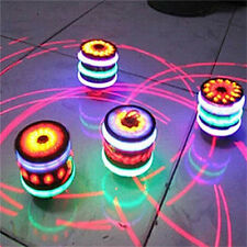 New Cool Magic Spinning Top Gyro Spinner Laser LED Music Flash Light Kids Toy
