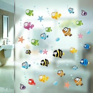 Wall Sticker Underwater Fish Starfish Kids Rooms Decor Home Decorations Decals