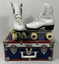 Riedell Vintage Women's Roller Skates 2 Sure Grip Classic With Case!