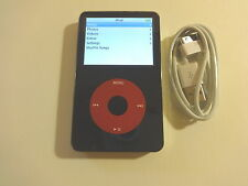 Apple iPod 5.5 GEN. CUStOM  THIN  BLACK/RED  80GB...NEW  HARD DRIVE...