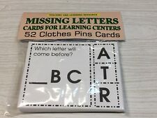 Missing Letters - Cards for Learning Center 52 Cards- Le