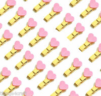 Mini Pegs Wooden Pink Heart Pegs  3cm Clothes Peg Wooden Clamp clip