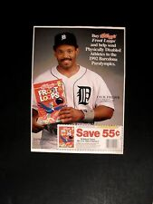 1992 Cecil Fielder Detroit Tigers Baseball~Froot Loops Sunday Supplement~Rare