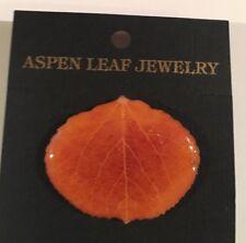 Pin / Pendant Aspen Leaf Jewelry