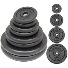 "CAST IRON WEIGHTS STANDARD 1"" HOLE HOME GYM WEIGHT/PLATES/DISCS TRAINING/LIFTING"