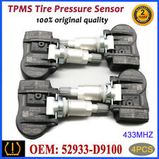 4PCS TPMS 52933-D9100 Tire Pressure Monitor Sensor 433MHz For Kia Sportage