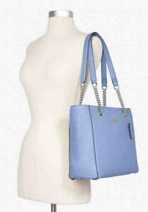 Coach Marlie Tote Periwinkle Leather Crossbody Shoulder Bag Handbag Purse NWT