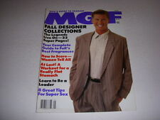 MGF MEN'S GUIDE TO FASHION Magazine, September, 1988, FALL DESIGNER COLLECTIONS!