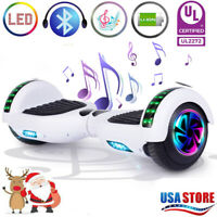 """6.5"""" Hoverboard Bluetooth LED Electric Self Balancing Scooter no Bag Best Gift N"""