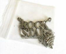VINTAGE 2001 ROCK STAR MOVIE PROMO METAL NECKLACE MARK WAHLBERG JENNIFER ANISTON