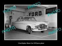 OLD LARGE HISTORIC PHOTO OF 1959 FORD ZEPHYR CAR PRESS PHOTO