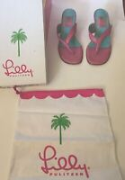 Lilly Pulitzer Pink Sandals Size 6.5 Pre-owned includes box and dust cover