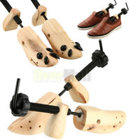 1Pair 2-way Wooden Expander Adjustable Shoe Stretcher for Men Women US Size 5-12