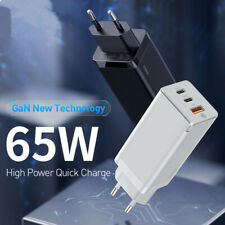 65W GaN EU Plug USB 2 * Type-C Charger Port 3.0 PD3.0 Quick charge Power Adapter