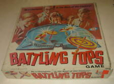 1968 IDEAL TOYS BATTLING TOPS PLASTIC ACTION GAME IN THE BOX COOL