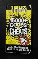 CODES & CHEATS 15,000+ Verified Codes PS1-3 Wii XBox SPRING 2007 EDITION