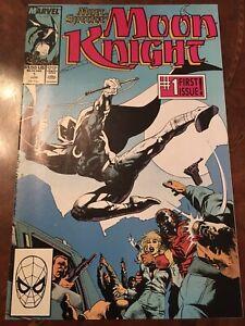 Marvel Marc Spector Moon Knight #1 comic book copper age 1989