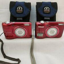 Red Nikon COOLPIX L26 Digital Camera 5X Zoom 16 MP Strap Belt Case - Your Choice
