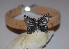 Sommer Kork Armband Armreif Schmetterling #7 Korkschmuck, jedes Stück ein Unikat