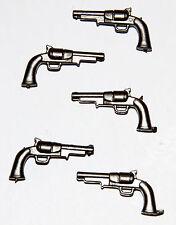 Playmobil lot of 5 Gun Colt 45 dark grey Tool Weapon western Sheriff Soldier