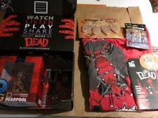 Lootcrate Feb 2016 Dead Theme Deadpool Walking Dead TWD Q-FIG XL SHIRT  QXM