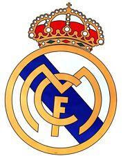 "FC Real Madrid Logo Shield Flag Wall Sticker JUMBO Size 33"""