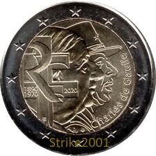 NEW !!! 2 EURO COMMEMORATIVO FRANCIA 2020 50° Morte Charles De Gaulle NEW !!!