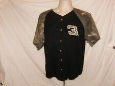 Men's M Chase Authentic Camo Black #3 Dale Earnhardt Short Sleeve Button Shirt
