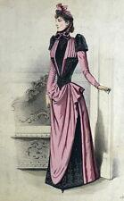 Toche et Mellerio Robe de Bal Paris Elegant Gourbaud Lithographie 19e