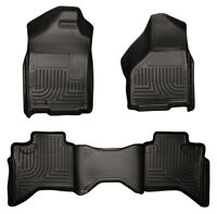 2015 F-250 Super Duty Crew Cab WeatherBeater Front & 2nd Seat Black Floor Liners
