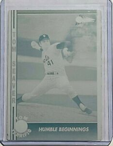 1/1 TOM SEAVER NEW YORK NY METS 1991 PACIFIC PRINTING PLATE #9 HUMBLE BEGINNINGS