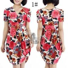 Summer Short Sleeve Dresses for Women with Blouson