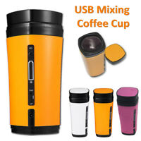 USB Coffee Cup Rechargeable Heating Self Stirring Auto Mixing Mug Warmer 3 Color